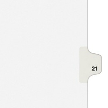 Avery 21 Individual Number Legal Index Style Dividers 25pk (AVE-01021) - $1.89 Image 1