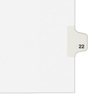 Individual Number Legal Index Style Dividers Preprinted