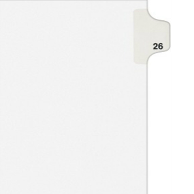 Avery 26 Individual Number Legal Index Style Dividers 25pk (AVE-01026) - $1.89 Image 1
