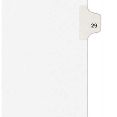 Avery 29 Individual Number Legal Index Style Dividers 25pk (AVE-01029) Image 1