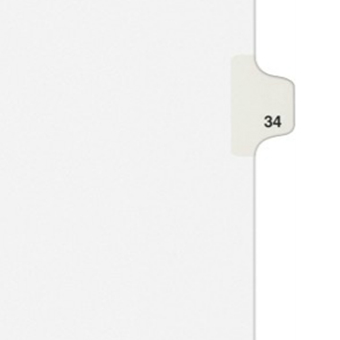 Avery 34 Individual Number Legal Index Style Dividers 25pk (AVE-01034) - $1.89 Image 1
