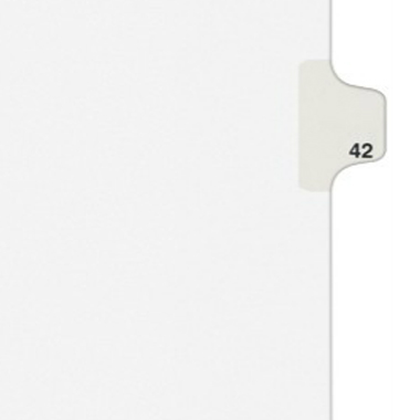 Avery 42 Individual Number Legal Index Style Dividers 25pk (AVE-01042) - $1.89 Image 1