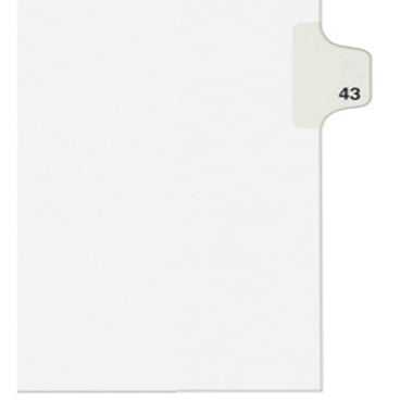 Avery 43 Individual Number Legal Index Style Dividers 25pk (AVE-01043) - $1.89 Image 1