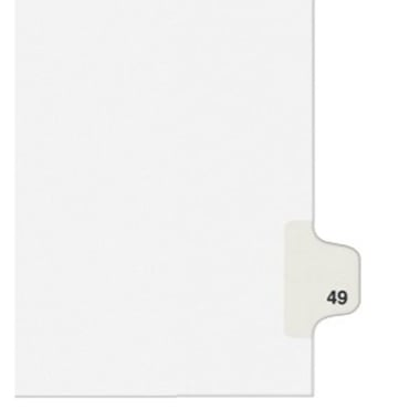 Avery 49 Individual Number Legal Index Style Dividers 25pk (AVE-01049) Image 1