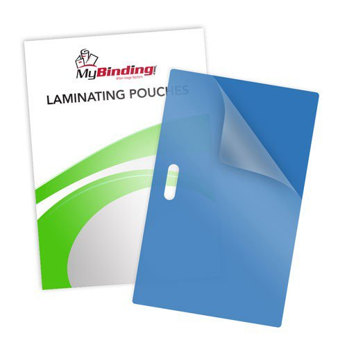 10mil Blue Backed Laminating Pouches with Long Side Slot (10MIL-BBLPLSS) Image 1