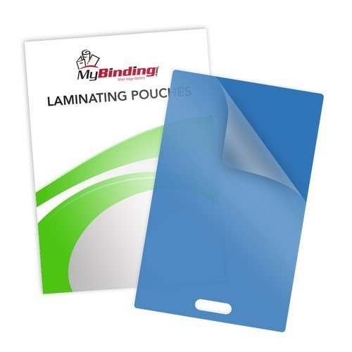 10mil Blue Backed Laminating Pouches with Short Side Slot (10MIL-BBLPSSS) - $34.39 Image 1