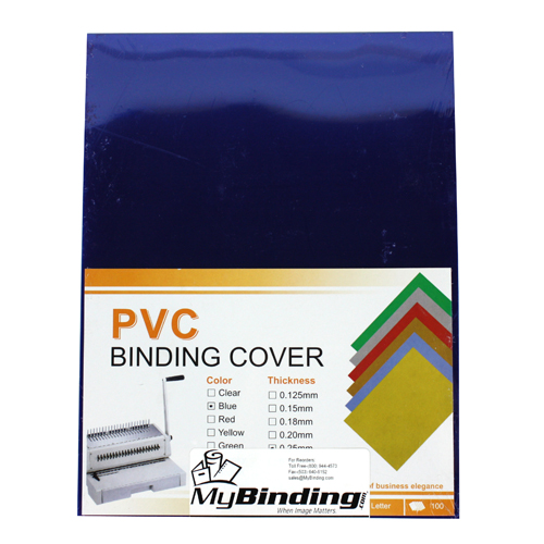 "10mil Blue Transparent 8.5"" x 11"" Tinted Covers - 100pk (TC108.5X11BL) Image 1"