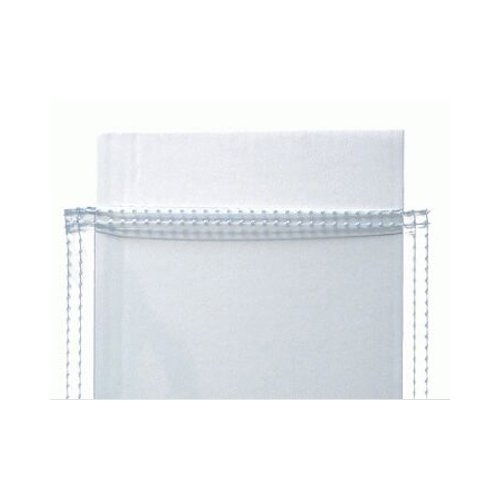 "10mil Clear Vinyl 40"" x 50"" Standard Print Pockets with Clear Sewn Border - 12pk (PSS4050) Image 1"