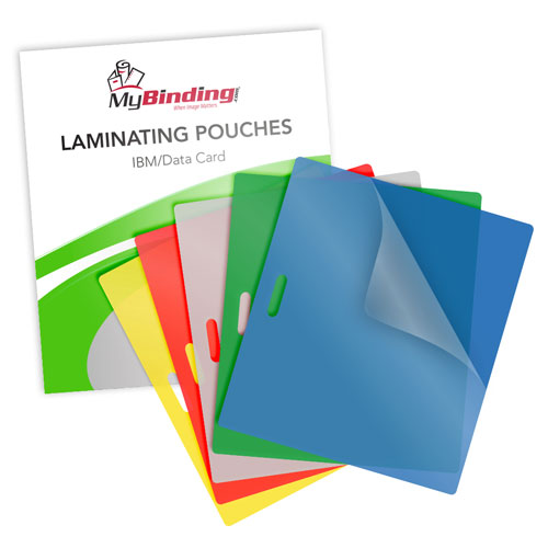 10mil Colored IBM Data Laminating Pouches with Long Side Slot - 100pk (MYLSLLKLP10IBM) Image 1