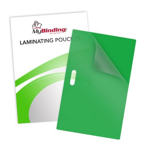 10mil Green Backed Laminating Pouches with Long Side Slot (10MIL-GBLPLSS) - $34.39 Image 1