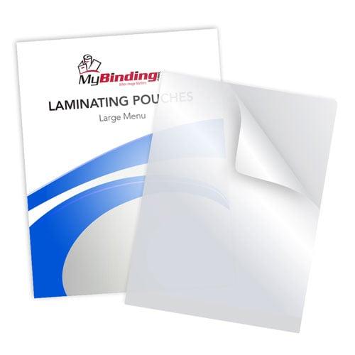 """10mil Matte Clear Large Menu Laminating Pouches 12"""" x 18"""" - 100pk (LKLP10LGMENUMC) Image 1"""
