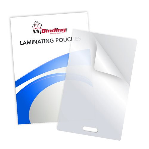 10mil Matte Matte Laminating Pouches with Short Side Slot (MY10MILMMLPSSS) Image 1
