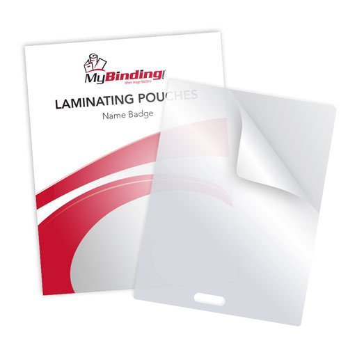 "10MIL Name Badge 4"" x 3"" Laminating Pouches with Short Side Slot - 100pk (SSLTLP10NAME) Image 1"