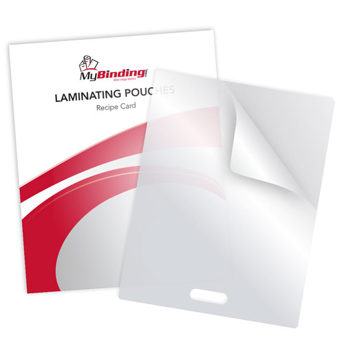 "10MIL Recipe Card 3-3/16"" x 4-3/8"" Laminating Pouches with Short Side Slot - 100pk (SSLTLP10RECIPE) Image 1"
