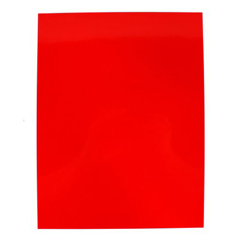 "10mil Red Transparent 8.5"" x 14"" Tinted Clear Covers 100pk (TC108.5X14RD) Image 1"