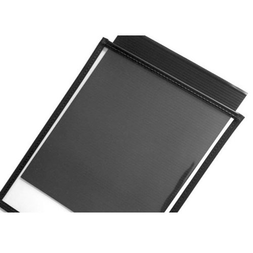 "10mil Rigid Clear PVC 40"" x 50"" Archival Print Pockets with Black Sewn Border - 12pk (PSAB4050)"