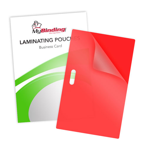 Red 10mil Business Card Pouches with Long Side Slot (LSLLKLP10BUSINESSRD) Image 1