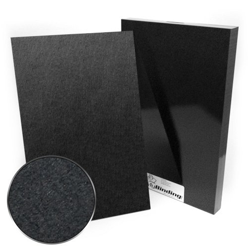 "11"" x 17"" 100pt Black Chipboard Covers - 25pk (MYCBB11X17-100) Image 1"