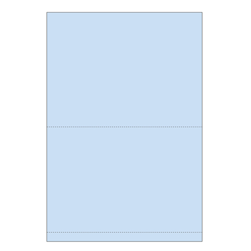 "Zapco 11"" x 17"" Cardstock Double Perforated .5"" and 9"" from bottom - 250 Sheets (ZAPBF1169-67VB) Image 1"