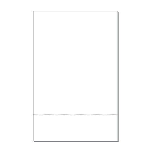 "Zapco 11"" x 17"" Cardstock Single Perforated 3.5"" from bottom - 250 Sheets (ZAPBF1167-67VB) Image 1"