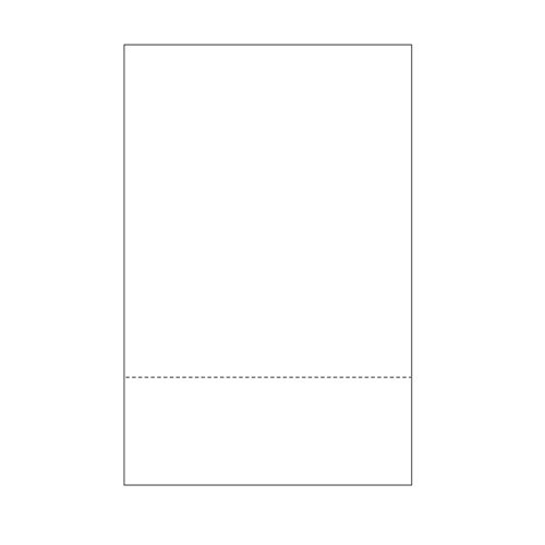 "Zapco 11"" x 17"" Cardstock Single-Perforated 3"" from bottom - 250 Sheets (ZAPBF1136-67VB) Image 1"