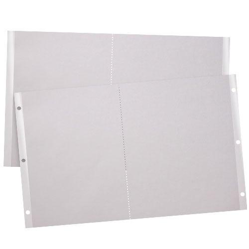 Indent 2-Up 90lb Reinforced Edge Paper (IND9011X18PREP) Image 1