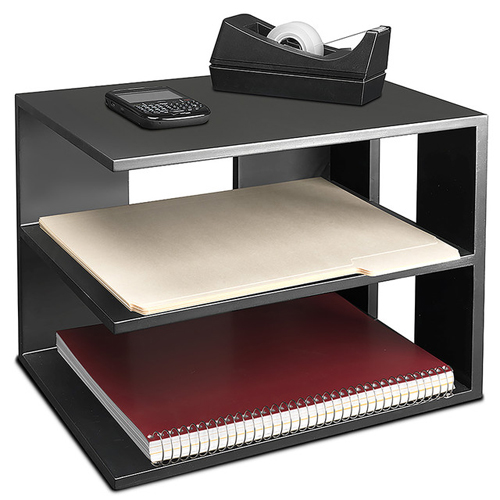 Victor Technology Desktop Corner Shelf (Midnight Black) (1120-5) Image 1