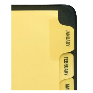 Avery Jan-Dec Buff Preprinted Laminated Tab Dividers (AVE-11307) Image 1