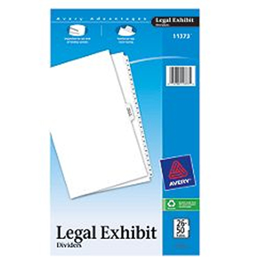 "Avery 26-50/TOC Legal 14"" x 8.5"" Style Collated Dividers (AVE-11373) Image 1"