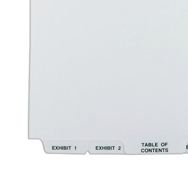 "Avery Exhibit 1-25/TOC 14"" x 8.5"" Style Collated Dividers (AVE-11378) Image 1"