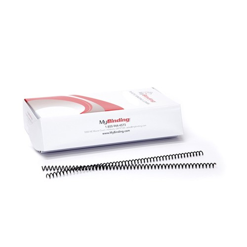 11mm Black Eco-Coil 4:1 Recycled Spiral Binding Coils - 100pk (P203EC-11-12) Image 1