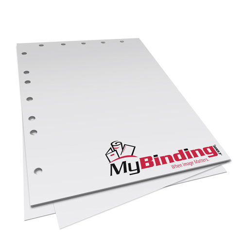 """24lb 8.5"""" x 11"""" 12 Hole Left Punched Paper - 1250 Sheets (MY8.5X1112HLPP24CS), Binding Supplies Image 1"""