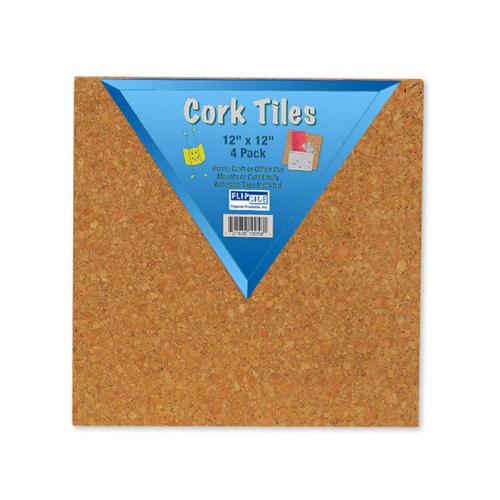 "Flipside 12"" x 12"" Natural Cork Tiles - 48pk (FS-10058) - $152.85 Image 1"