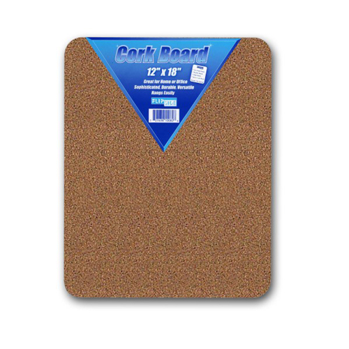 "Flipside 12"" x 18"" Unframed Natural Cork Bulletin Boards - 12pk (FS-10082) Image 1"