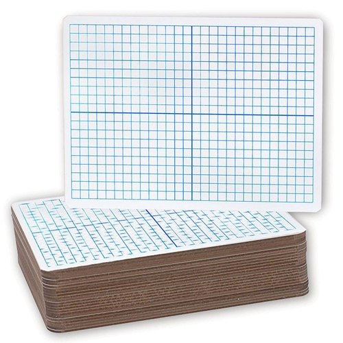 "Flipside 9"" x 12"" XY Axis Grid/Plain Two-Sided Dry Erase Lap Boards - 24pk (FS-12000) Image 1"