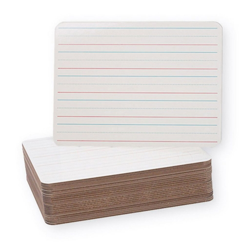 "Flipside 9"" x 12"" Red and Blue Lined/Plain Two-Sided Dry-Erase Lap Boards - 24pk (FS-12034), Flipside brand Image 1"
