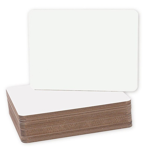 "Flipside 9.5"" x 12"" Unframed Dry-Erase Lap Boards - 24pk (FS-12064), Boards Image 1"