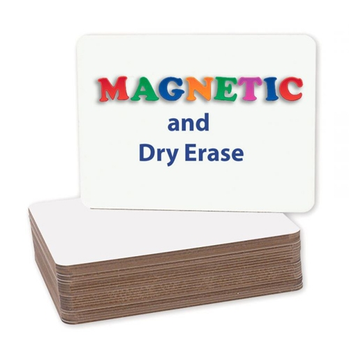 "Flipside 9"" x 12"" Two-Sided Magnetic Unframed Dry Erase Lap Boards - 24pk (FS-12477) Image 1"