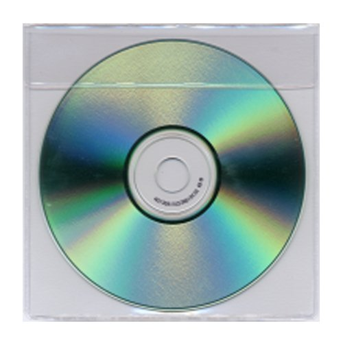 "5-1/8"" x 5-1/8"" Clear Vinyl CD DVD Holders - 100pk (1248-CD) Image 1"