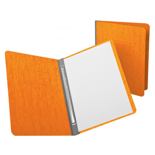 "Oxford 3"" Tangerine 11""x8.5"" PressGuard Side Hinge Report Cover (ESS-12731) - $3.26 Image 1"
