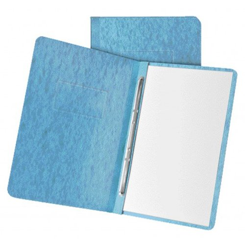 "Oxford 3"" Light Blue 11""x8.5"" Pressboard Side Hinge Report Cover (ESS-12901) - $2.89 Image 1"