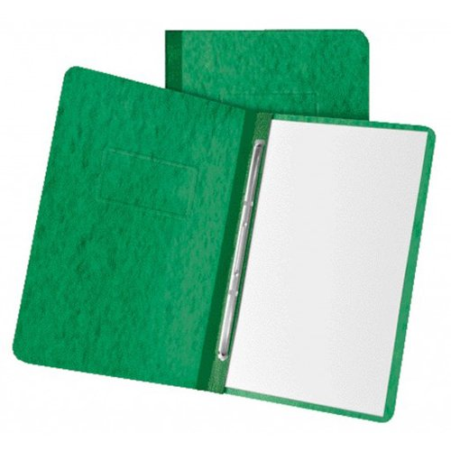 "Oxford 3"" Dark Green 11""x8.5"" Pressboard Side Hinge Report Cover (ESS-12917) Image 1"