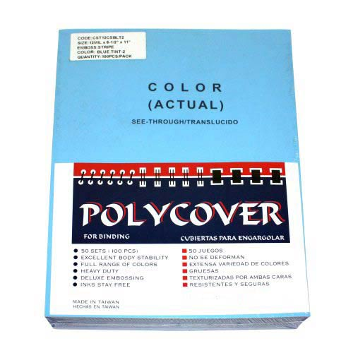 12mil Stripe Transparent Blue Poly Covers (MYSTC12BL), Covers Image 1