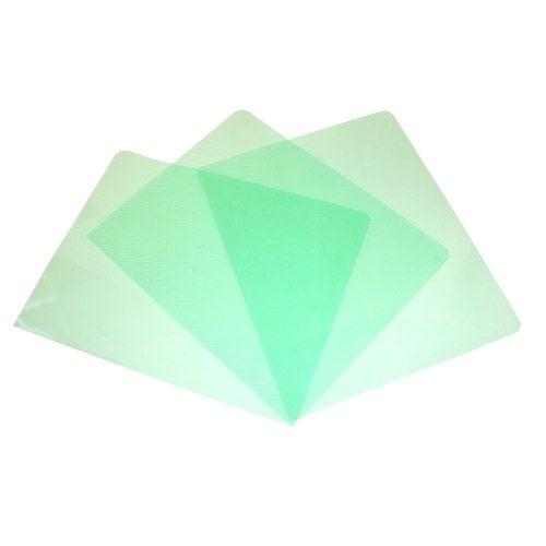 12mil Stripe Transparent Green Poly 5.5