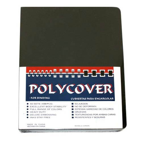 "12mil Stripe Transparent Smoke Poly 8.75"" x 11.25"" Covers (100pk) (AKCST12CRSMT1) Image 1"