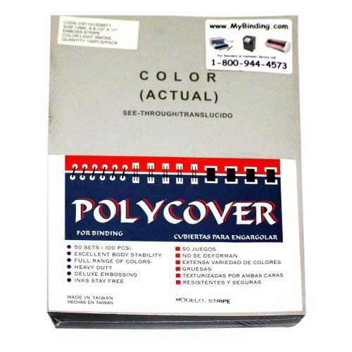 12mil Stripe Transparent Smoke Poly Covers (MYSTC12SM), Covers Image 1