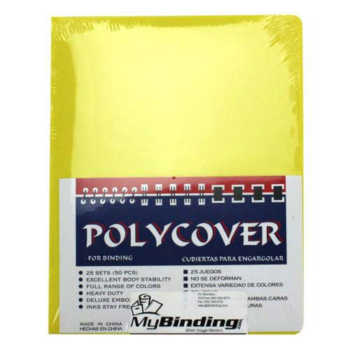 "16mil Yellow Leather Grain Poly 5.5"" x 8.5"" Covers (50pk) (AKCLT16CSYL01H)"
