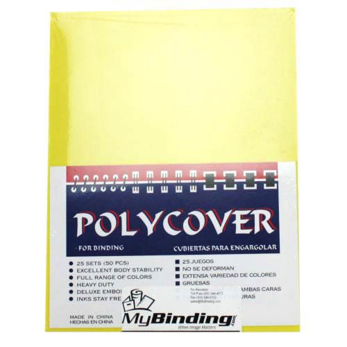 "16mil Yellow Leather Grain Poly 8.5"" x 11"" Covers (50pk) (AKCLT16CSYL01) - $23.29 Image 1"