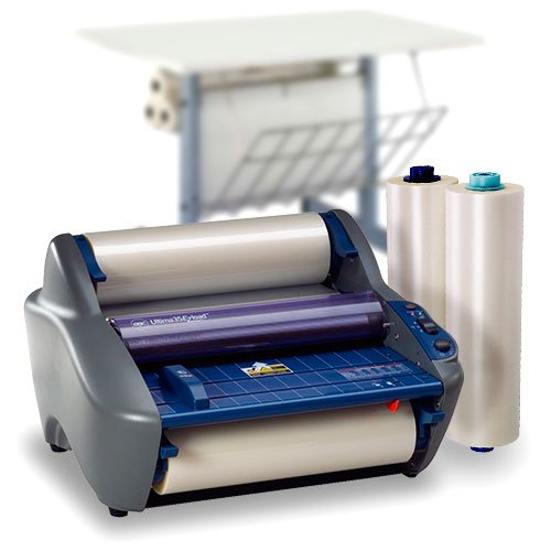 GBC Ultima 35 EzLoad Roll Laminator Starter Kit with 2 Rolls of Film and Optional Work Station (1701680-K) Image 1