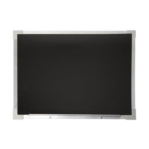 "Flipside 18"" x 24"" Black Flannel/Magnetic Dry-Erase Two-Sided Board with Aluminum Frame (FS-10720) Image 1"